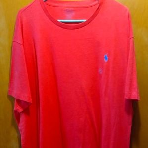 Red polo t-shirt XXL New